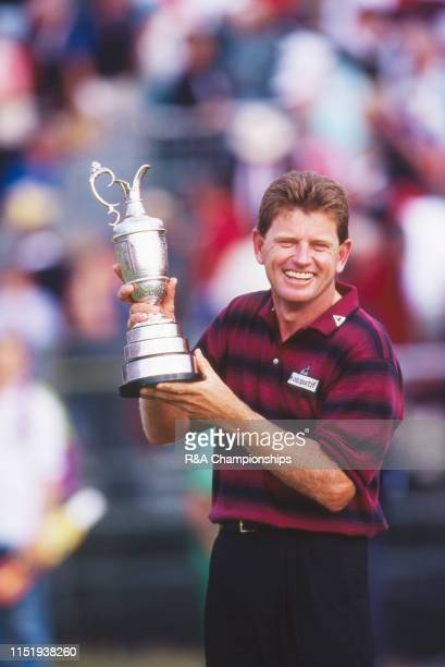 Nick Price of Zimbabwe holds the Claret Jug following his victory during The 123rd Open Championship held on the Ailsa Course at Turnberry from July...