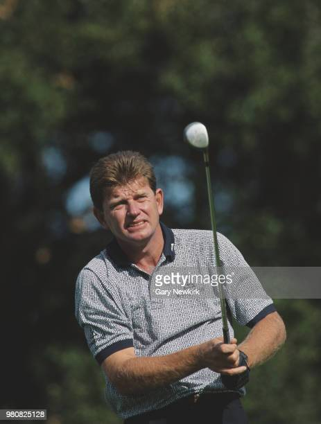 Nick Price of Zimbabwe keeps his eye on his shot during the Franklin Funds Shark Shootout golf tournament on 20 November 1993 at the Sherwood Country...