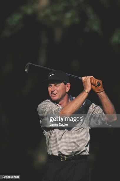 Nick Price of Zimbabwe playing playing off an iron during the DoralRyder Open golf tournament on 5 March 1998 at the Doral Golf Resort Spa in Doral...