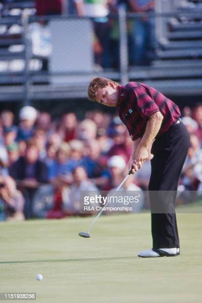 Nick Price of Zimbabwe putts during The 123rd Open Championship held on the Ailsa Course at Turnberry from July 14-17,1994 in Turnberry, Scotland.