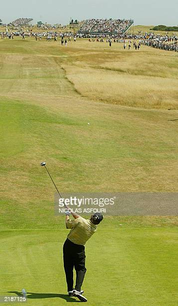 Nick Price of Zimbabwe tee's off on the first hole during the third round at The Open Championship at Royal St. George's in Sandwich 19 July 2003....