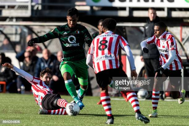 Nick Proschwitz of Sparta Rotterdam Renato Tapia of Feyenoord Ryan Sanusi of Sparta Rotterdam Deroy Duarte of Sparta Rotterdam during the Dutch...