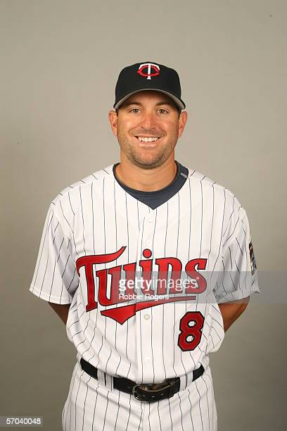 Nick Punto of the Minnesota Twins during photo day at Hammond Stadium on February 27 2007 in Ft Myers Florida