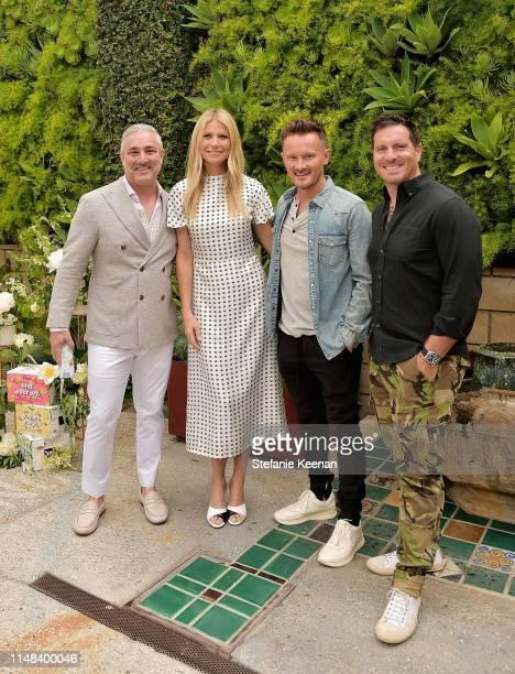 Nick Reichenbach, Gwyneth Paltrow, Will Cole and Seamus Mullen attend Gwyneth Paltrow hosts a Goop morning in celebration of first international...