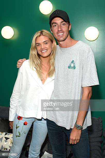 Nick Remsen and Allie Michler attend Lexus Lounge At MADE at Milk Studios on September 9 2016 in New York City
