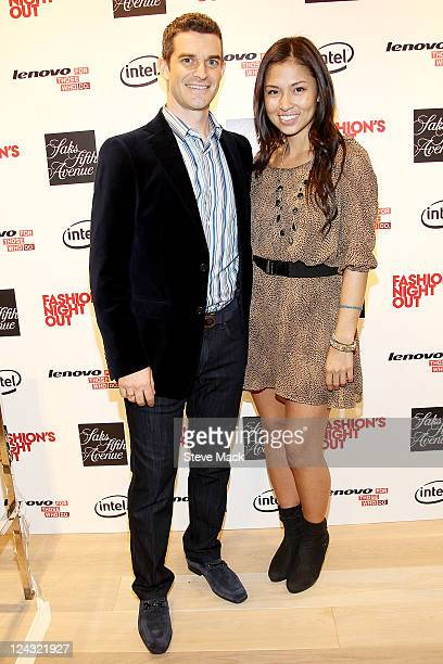 Nick Reynolds and Samantha Lim at Saks Fifth Avenue on September 8 2011 in New York City