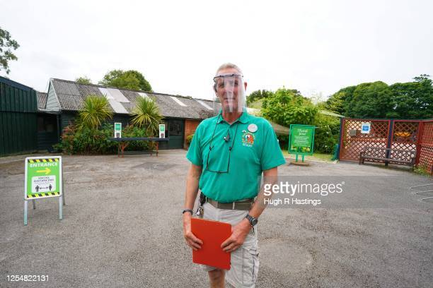 Nick Reynolds CoOwner of Paradise Park poses for the photographer as the Park gets ready for the reopening of the visitor attraction on July 7 in...