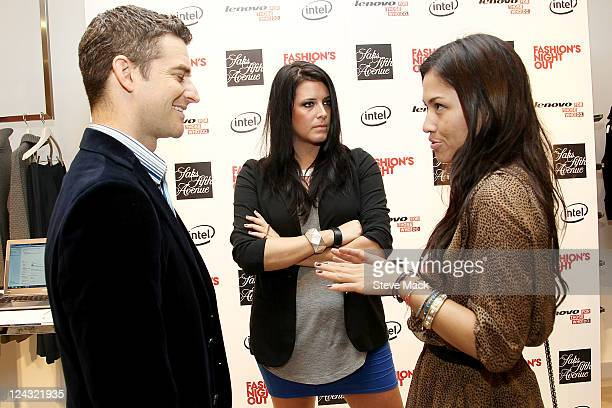 Nick Reynolds Meredith Koko and Samantha Lim at Saks Fifth Avenue on September 8 2011 in New York City