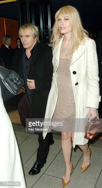 """Nick Rhodes and Meredith Ostrom during """"Derailed"""" London Premiere - Departures at Curzon Mayfair in London, Great Britain."""