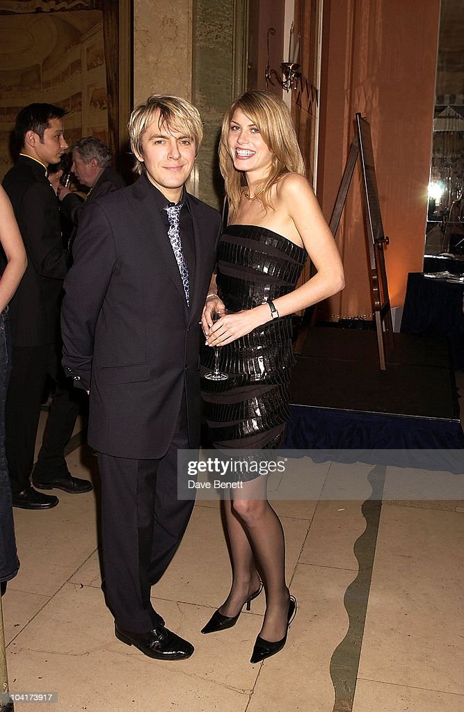 Nick Rhodes And Meridith Orsen, The Premiere Of Shipping News Was Followed By A Glamorous Party At Clarridges Hotel In London.