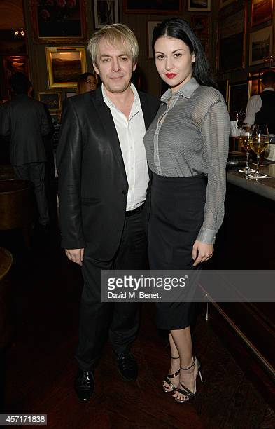 Nick Rhodes and Nefer Suvio attend the Blain | Southern private dinner to celebrate Jonas Burgert and the show STUCK HIRN BLIND at Berner's Tavern...