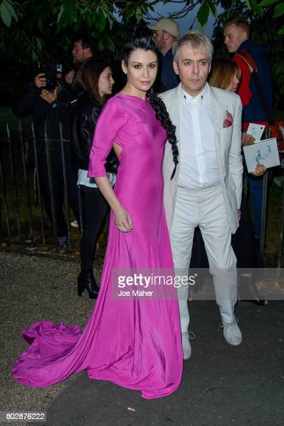Nick Rhodes and Nefer Suvio attend The Serpentine Galleries Summer Party at The Serpentine Gallery on June 28 2017 in London England