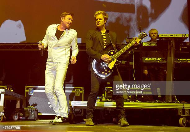 Nick Rhodes and Simon Le Bon of Duran Duran perform on stage at the Sonar Music Festival 2015 on June 20 2015 in Barcelona Spain