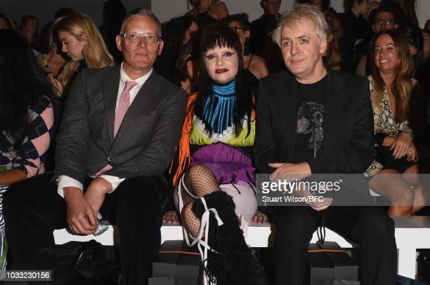 Nick Rhodes attends the Matty Bovan Show during London Fashion Week September 2018 at The BFC Show Space on September 14 2018 in London England