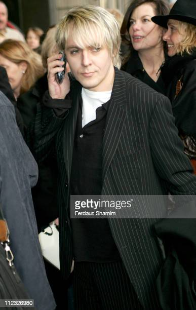 Nick Rhodes during Movin' Out London Premiere Outside Arrivals at Apollo Victoria Theatre in London Great Britain