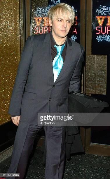 Nick Rhodes during Vegas Supernova Selfridges Launch Party at Selfridges in London Great Britain