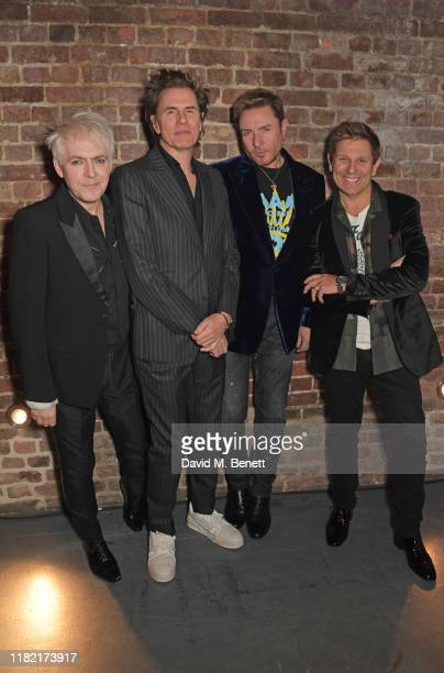Nick Rhodes, John Taylor, Simon Le Bon and Roger Taylor of Duran Duran join Patron of Centrepoint, HRH The Duke of Cambridge, young people supported...