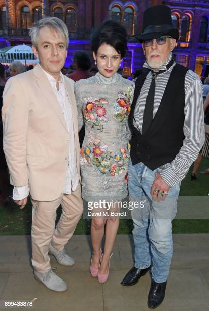 Nick Rhodes Nefer Suvio and Antony Price attend the 2017 annual VA Summer Party in partnership with Harrods at the Victoria and Albert Museum on June...