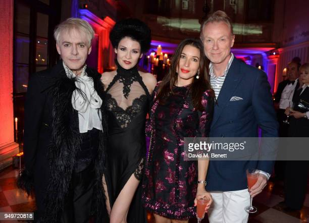 Nick Rhodes Nefer Suvio Lauren Kemp and Gary Kemp attend a party to celebrate Nefer Suvio's birthday hosted by The Count and Countess Francesco...