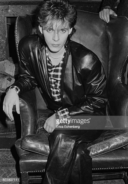Nick Rhodes of Duran Duran at a press call in a London hotel November 1983
