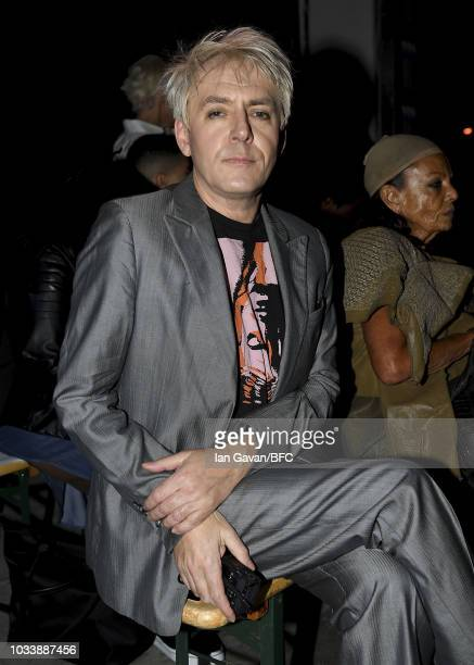 Nick Rhodes of Duran Duran attend the Gareth Pugh show during London Fashion Week September 2018 at The Old Selfridges Hotel on September 15 2018 in...