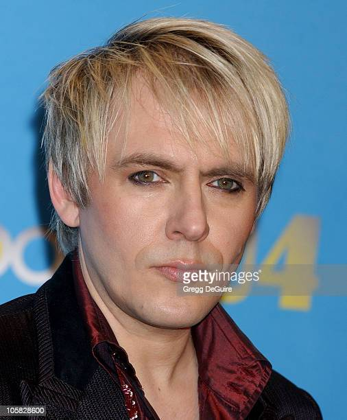 Nick Rhodes of Duran Duran during 2004 Billboard Music Awards Press Room at MGM Grand Garden in Las Vegas Nevada United States