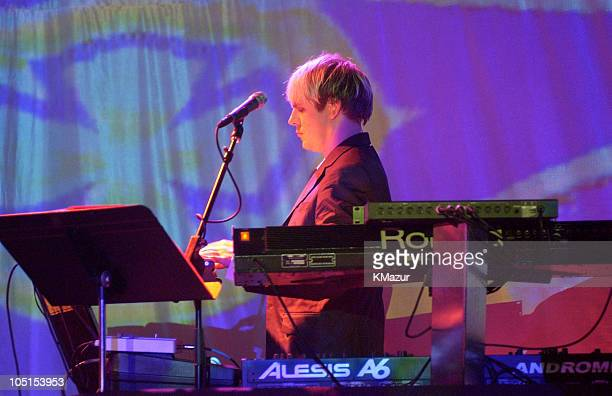 Nick Rhodes performs at The Roxy at the Duran Duran show presented by DKNY Jeans and The Fader