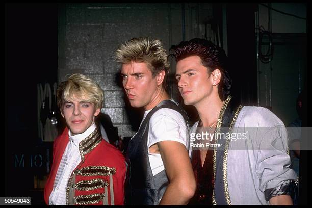 Nick Rhodes Simon Le Bon and John Taylor of the rock group Duran Duran