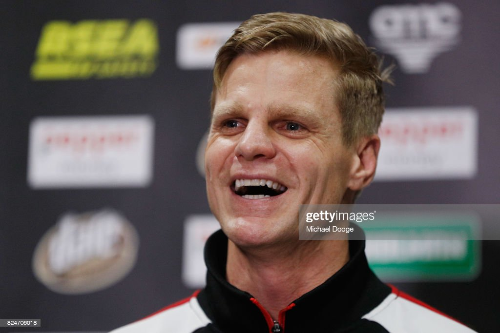 Nick Riewoldt Press Conference : News Photo