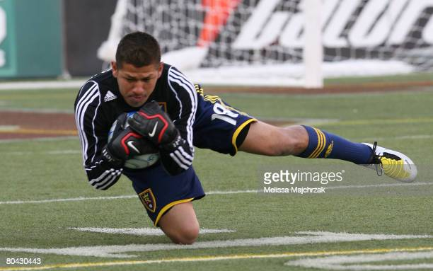 Nick Rimando of the Real Salt Lake catches the kick against the Chicago Fire at Rice-Eccles Stadium March 29, 2008 in Salt Lake City, Utah.