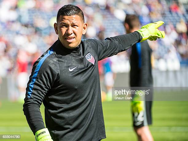 Nick Rimando of United States prior to the International Soccer Friendly match between the United States and Serbia at Qualcomm Stadium on January 29...