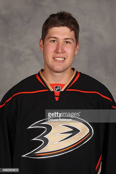 Nick Ritchie of the Anaheim Ducks poses for his official headshot for the 20142015 season on September 18 2014 at the Honda Center in Anaheim...