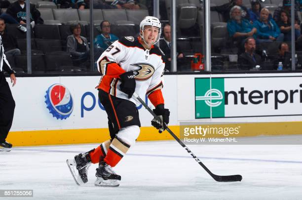 Nick Ritchie of the Anaheim Ducks skates against the San Jose Sharks at SAP Center on September 19 2017 in San Jose California