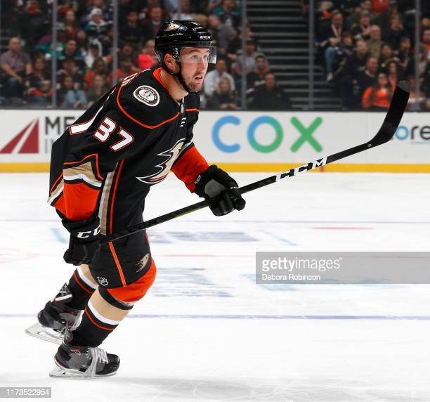 Nick Ritchie of the Anaheim Ducks skates during the game against the Arizona Coyotes at Honda Center on October 3 2019 in Anaheim California