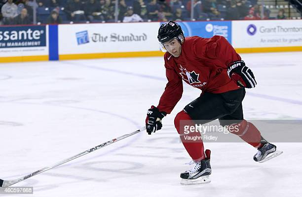 Nick Ritchie skates during the Canada National Junior Team practice at the Meridian Centre on December 17 2014 in St Catharines Ontario Canada
