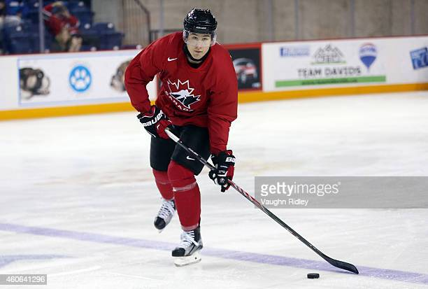 Nick Ritchie skates during the Canada National Junior Team practice at the Meridian Centre on December 18 2014 in St Catharines Ontario Canada
