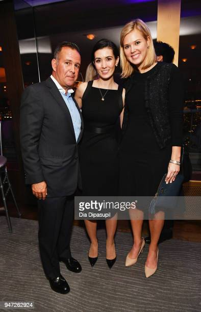 Nick Roberts Sara Warner Jennifer Sullivan attend the Lincoln Center Alternative Investment Industry Gala on April 16 2018 at The Rainbow Room in New...
