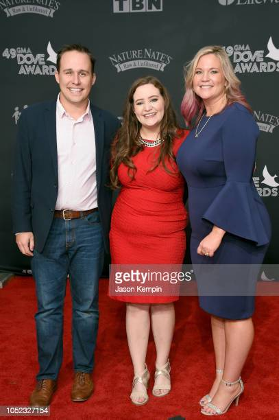 Nick Robertson Anna Clark and Alison Wells attend the 49th Annual GMA Dove Awards at Allen Arena Lipscomb University on October 16 2018 in Nashville...