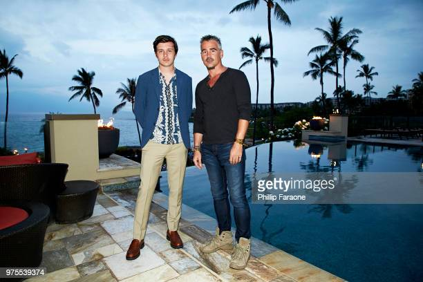 Nick Robinson and Colin Farrell pose for a portrait during the 2018 Maui Film Festival on June 14 2018 in Wailea Hawaii