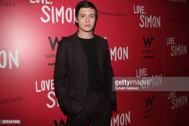 Nick Robinson attends 20th Century Fox Wingman host a screening of 'Love Simon' on March 8 2018 in New York City