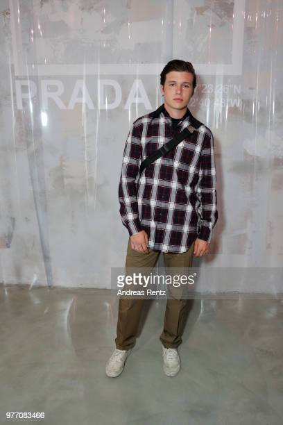 Nick Robinson attends Prada Men's Spring/Summer 2019 Fashion Show on June 17 2018 in Milan Italy