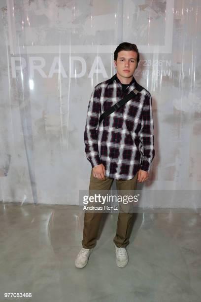 Nick Robinson attends Prada Men's Spring/Summer 2019 Fashion Show on June 17 2018 in Milan Italy