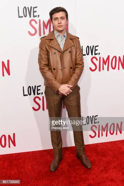 "Nick Robinson attends Special Screening Of 20th Century Fox's ""Love, Simon"" - Arrivals at Westfield Century City on March 13, 2018 in Century City,..."
