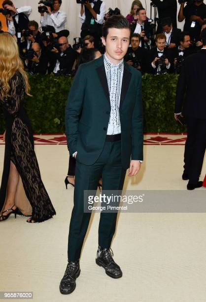Nick Robinson attends the Heavenly Bodies Fashion The Catholic Imagination Costume Institute Gala at Metropolitan Museum of Art on May 7 2018 in New...