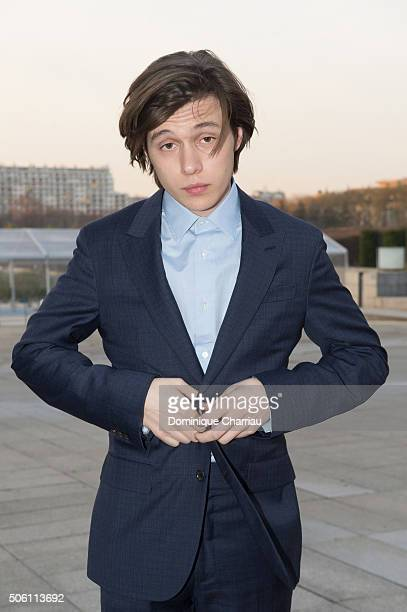 Nick Robinson attends the Louis Vuitton Menswear Fall/Winter 20162017 show as part of Paris Fashion Week on January 21 2016 in Paris France