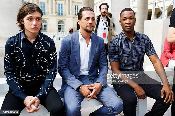 Nick Robinson Ben Robson and Corey Hawkins attends the Louis Vuitton Menswear Spring/Summer 2017 show as part of Paris Fashion Week on June 23 2016...