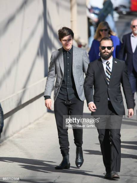 Nick Robinson is seen arriving at 'Jimmy Kimmel Live' on March 15 2018 in Los Angeles California