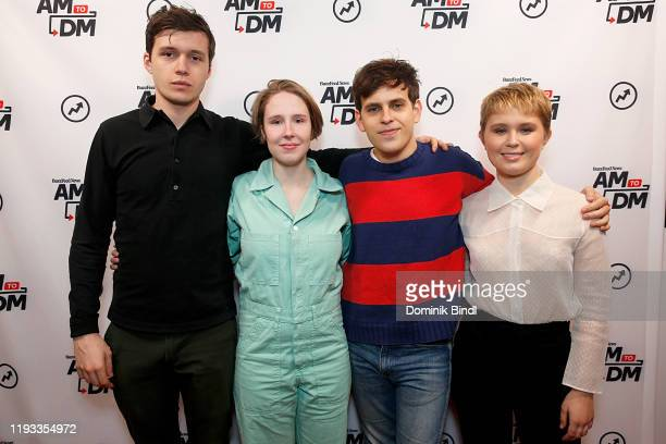 Nick Robinson Nina Grollman Taylor Trensch and Eliza Scanlen attend BuzzFeed's AM To DM on December 11 2019 in New York City