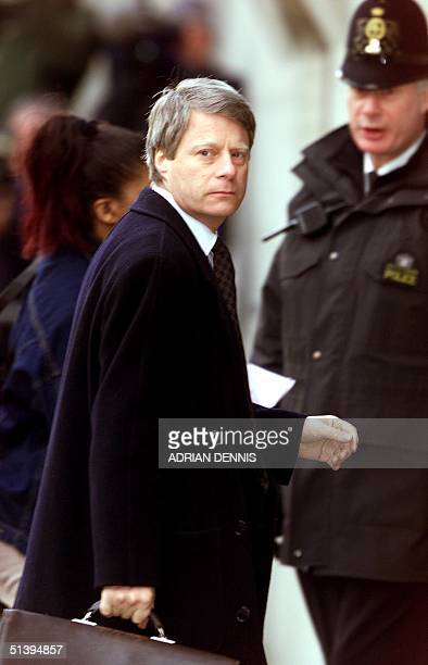 Nick Ross colleague and friend of murdered television presenter Jill Dando arrives at The Central Criminal Courts in London 26 February 2001 Barry...