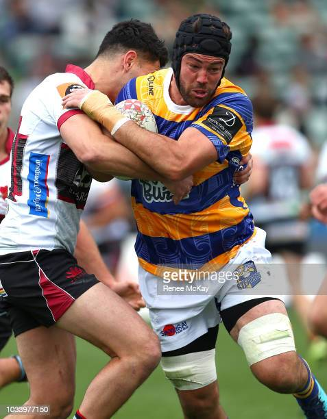 Nick Ross in action for BOP during the round five Mitre 10 Cup match between North Harbour and Bay of Plenty at QBE Stadium on September 16 2018 in...